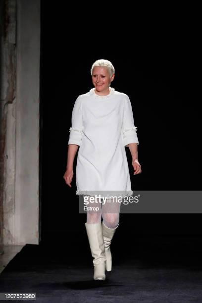 February 20: Fashion designer Vivetta Ponti during the Vivetta fashion show as part of Milan Fashion Week Fall/Winter 2020-2021 on February 20, 2020...