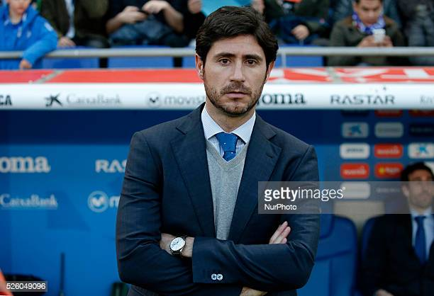 Victor Sanchez del Amo during the match between RCD Espanyol and Deportivo de la Coruna corresponting to the week 25 of the spanish league played at...