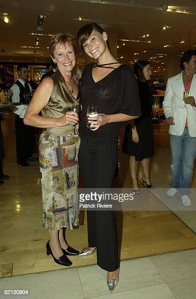 17 February 2004 Chloe Maxwell and mother Dianne at the Autumn/Winter 2004 season showcase for Australia's leading fashion designers and...