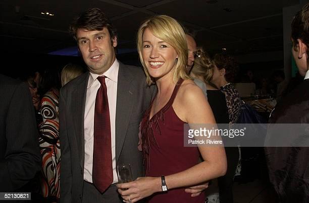 17 February 2004 David Gyngell and Leila McKinnon at the Autumn/Winter 2004 season showcase for Australia's leading fashion designers and...