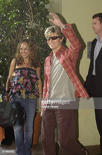 16 February 2004 English singer David Bowie attends a press conference for his Reality Tour at the Quay Restaurant in Sydney Australia
