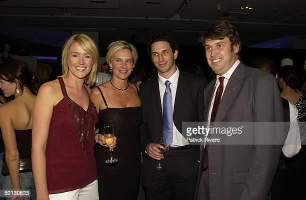 17 February 2004 Leila McKinnon Skye Leckie Ryan Stokes and David Gyngell at the Autumn/Winter 2004 season showcase for Australia's leading fashion...
