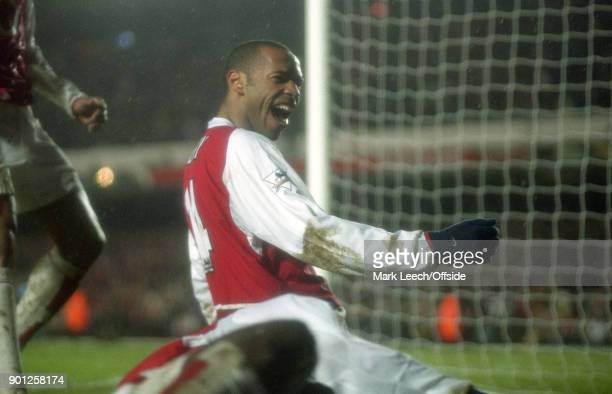 01 February 2004 London FA Barclaycard Premiership Arsenal v Manchester City Thierry Henry of Arsenal celebrates his goal