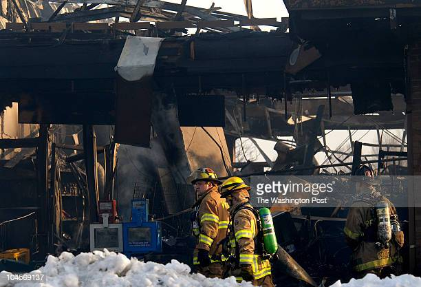 February 2007 CREDIT Katherine Frey / TWP Frederick MD Fire ignites after suspect in a liquor store robbery shoots at police Eight neighboring stores...