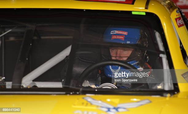 Bill Elliott Woods Brothers Ford Fusion during the NASCAR Sprint Cup Series Auto Club 500 practice at the Auto Club Speedway in Fontana CA The...