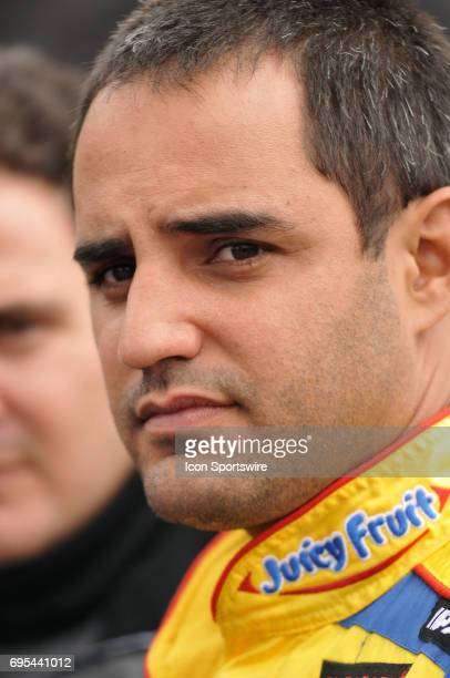 Juan Pablo Montoya Chip Ganassi Dodge Charger during the NASCAR Sprint Cup Series Auto Club 500 practice at the Auto Club Speedway in Fontana CA The...