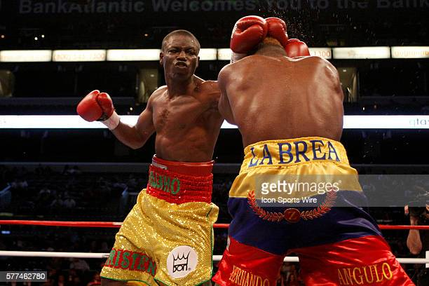 Don King Productions stages firstever boxing card on Valentine's Day at the BankAtlantic Center Sunrise Florida 14 February 2009 Anges Adjaho from...