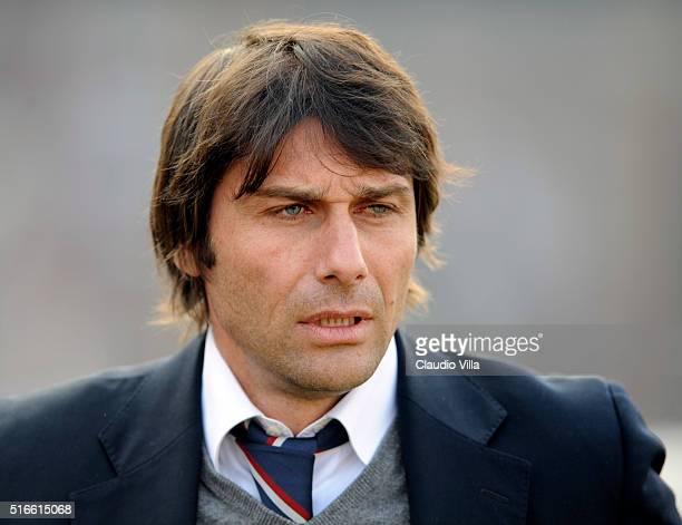 Head Coach AS Bari Antonio Conte looks on during the Serie B 20082009 match round 28th between Mantova and Bari at the Martelli stadium in Mantova