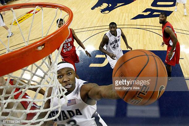 Armon Johnson during the NCAA Men's Basketball regular season game between the Fresno State Bulldogs and the Nevada Wolf Pack at Lawlor Events Center...