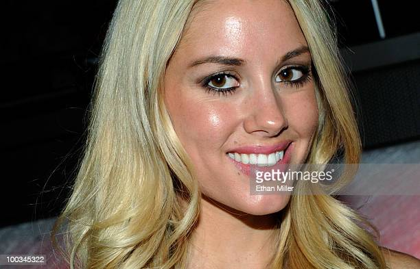 ACCESS*** February 2010 Playboy Playmate of the Month Heather Rae Young appears at the Tabu Ultra Lounge at the MGM Grand Hotel/Casino May 22 2010 in...