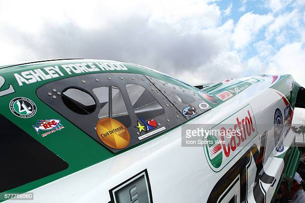 Threatening clouds in the sky above Ashley Force Hood's car before qualifying rounds in the NHRA Arizona Nationals at Firebird International Raceway...