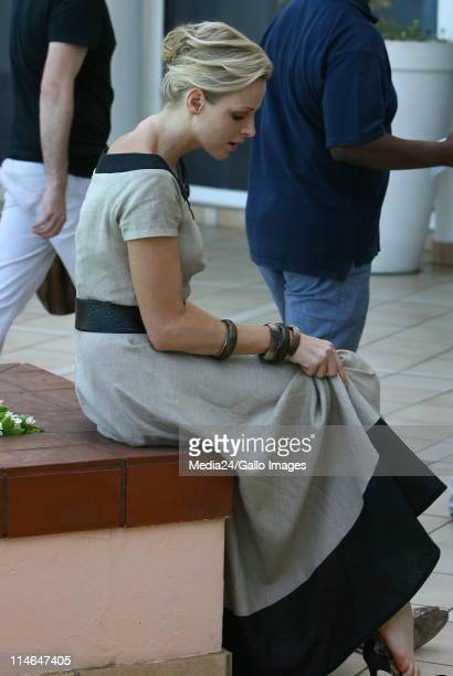 Former South African Olympic swimmer and future Princess of Monaco Charlene Wittstock at the Beverly Hills Hotel in Umhlanga South Africa on 10...