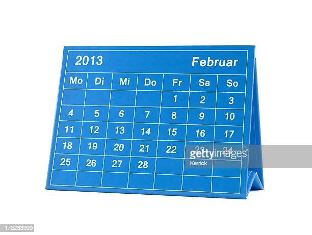 februar 2013 deutsche kalender -montag-sonntag - februar stock-fotos und bilder