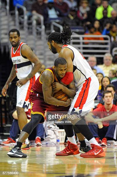 Cleveland Cavaliers shooting guard Dion Waiters in action against Washington Wizards power forward Nene Hilario at the Verizon Center in Washington...