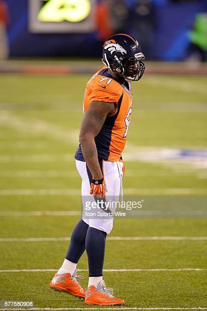 Denver Broncos defensive end Robert Ayers during Super Bowl XLVIII between the Denver Broncos and the Seattle Seahawks at MetLife Stadium in East...