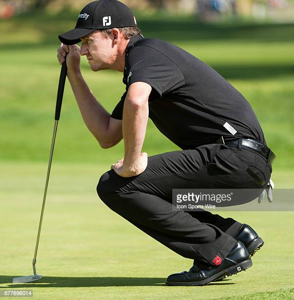 Jimmy Walker competes in the Northern Trust Open golf tournament held at the Riviera Country Club in Pacific Palisades
