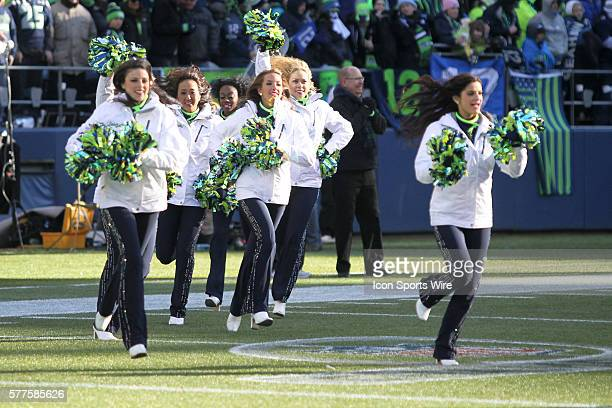 Seattle Sea Gals entertained fans at the start of the 12th Man kickoff celebration Seattle Seahawks players and 12th man fans celebrated bringing the...