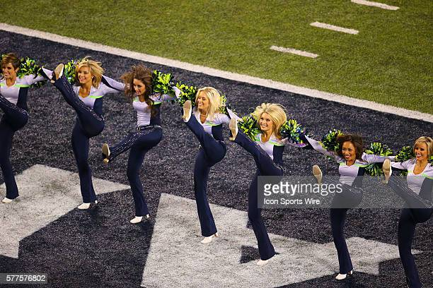 Seattle Seahawks Cheerleaders Stock Photos and Pictures ...