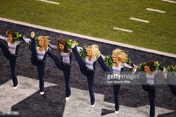 The Sea Gals during Super Bowl XLVIII between the Denver Broncos and the Seattle Seahawks at MetLife Stadium in East Rutherford NJ