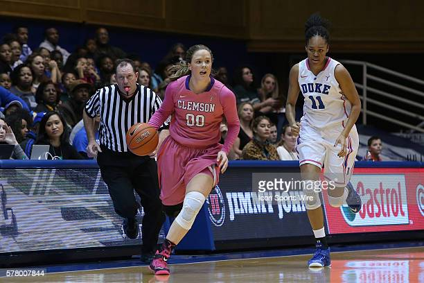 Clemson's Shelbie Davenport is chased by Duke's Azura Stevens The Duke University Blue Devils hosted the Clemson University Tigers at Cameron Indoor...