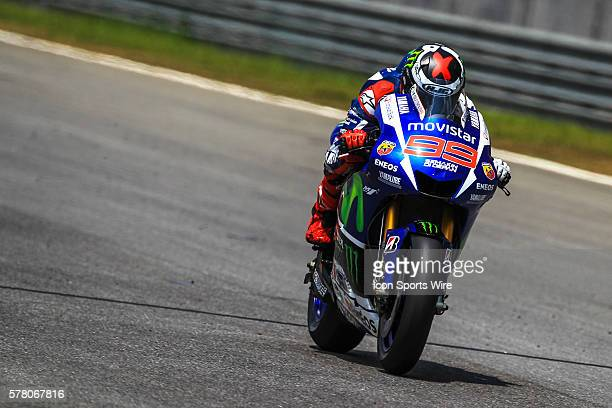 Jorge Lorenzo of Movistar Yamaha Racing in action during the first day of the second official MotoGP testing session held at Sepang International...
