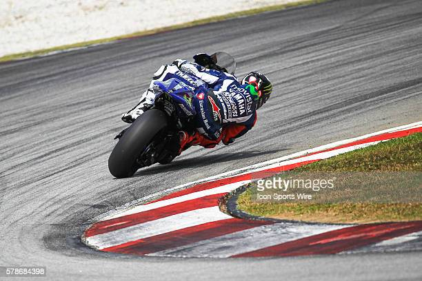 Jorge Lorenzo of Movistar Yamaha Racing in action during the second day of the second official MotoGP testing session held at Sepang International...