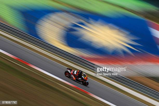 Loriz Baz of NGM Forward Racing in action during the first day of the second official MotoGP testing session held at Sepang International Circuit in...