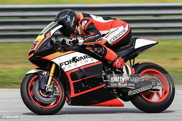 Loriz Baz of NGM Forward Racing in action during the second day of the second official MotoGP testing session held at Sepang International Circuit in...