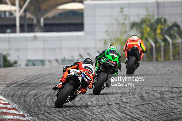 Loriz Baz of NGM Forward Racing in action during the third day of the second official MotoGP testing session held at Sepang International Circuit in...