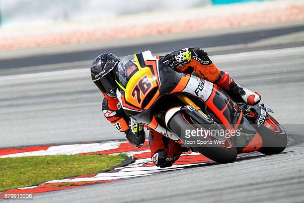 Loriz Baz of NGM Forward Racing in action during the first day of the first official MotoGP testing session held at Sepang International Circuit in...