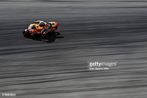 Marc Marquez of Repsol Honda Team in action during the third day of the second official MotoGP testing session held at Sepang International Circuit...