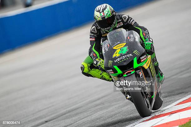 Pol Espargaro of Monster Yamaha Tech 3 in action during the third day of the first official MotoGP testing session held at Sepang International...