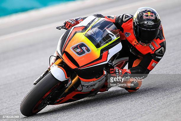 Stefan Bradl of NGM Forward Racing in action during the third day of the first official MotoGP testing session held at Sepang International Circuit...