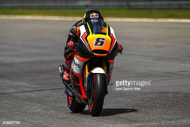 Stefan Bradl of NGM Forward Racing in action during the first day of the second official MotoGP testing session held at Sepang International Circuit...