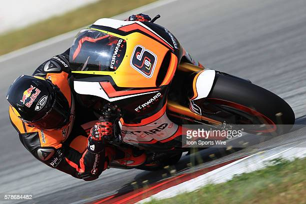 Stefan Bradl of NGM Forward Racing in action during the second day of the second official MotoGP testing session held at Sepang International Circuit...