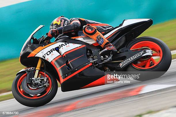 Stefan Bradl of NGM Forward Racing in action during the third day of the second official MotoGP testing session held at Sepang International Circuit...