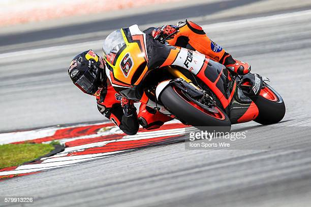 Stefan Bradl of NGM Forward Racing in action during the first day of the first official MotoGP testing session held at Sepang International Circuit...