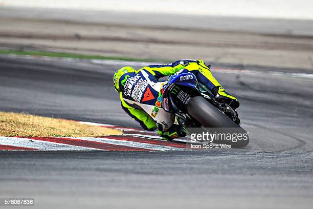 Valentino Rossi of Movistar Yamaha Racing in action during the first day of the second official MotoGP testing session held at Sepang International...