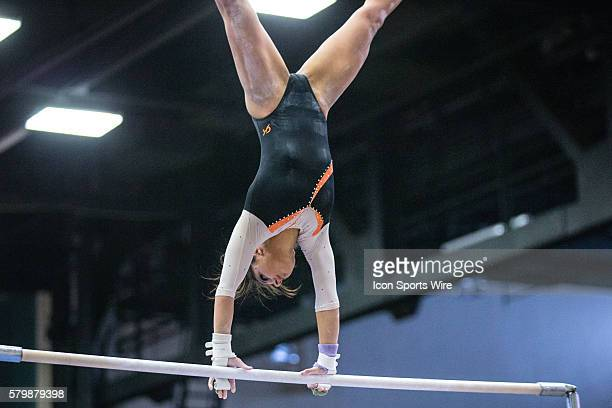 Bowling Green Falcons Laura Mitchell competes in the Uneven Parallel Bars during the meet between the Bowling Green Falcons and Kent State Golden...