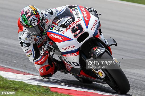 Danilo Petrucci of Octo Pramac Racing in action during the second day of official MotoGP testing session held at Sepang International Circuit in...