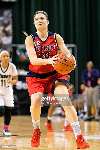 Detroit Titans G Nicole Urbanick looks to shoot during the first half of the NCAA Women's Basketball game between the Detroit Titans and Cleveland...