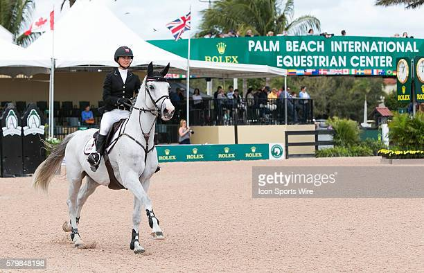 Georgina Bloomberg rides during the SUNCAST $86000 150M Classic during the Winter Equestrian Festival at The Palm Beach International Equestrian...