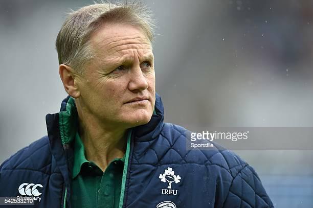 13 February 2016 Ireland head coach Joe Schmidt ahead of the game RBS Six Nations Rugby Championship France v Ireland Stade de France Saint Denis...