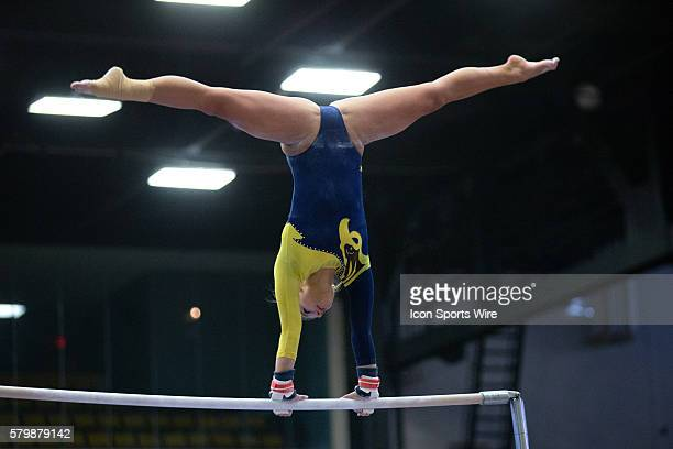 Kent State Golden Flashes Sarah Lippowitsch competes in the Uneven Parallel Bars during the meet between the Bowling Green Falcons and Kent State...