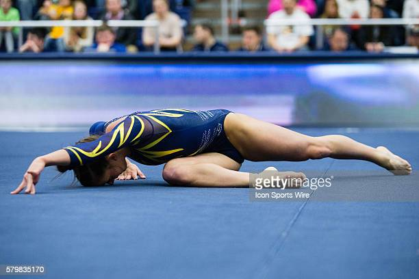 Nicolle Eastman of Kent State competes in the Floor Exercise during the meet between the George Washington Colonials, Northern Illinois Huskies and...