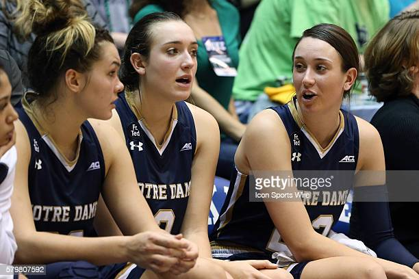 Notre Dame sisters Michaela Mabrey and Marina Mabrey with Kathryn Westbeld The Duke University Blue Devils hosted the University of Notre Dame...