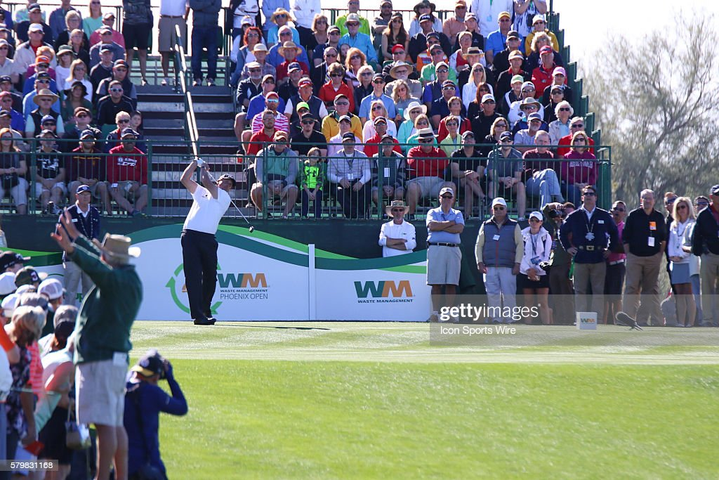 Phil Mickelson On The Opening Hole During The Waste Management