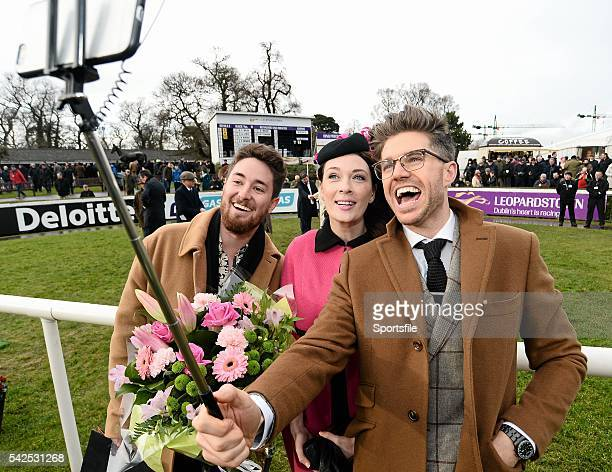 6 February 2016 Pictured is TV Presenter Style Entrepreneur Darren Kennedy takes a selifie with the winners of Powerscourt Hotel Style Awards Most...