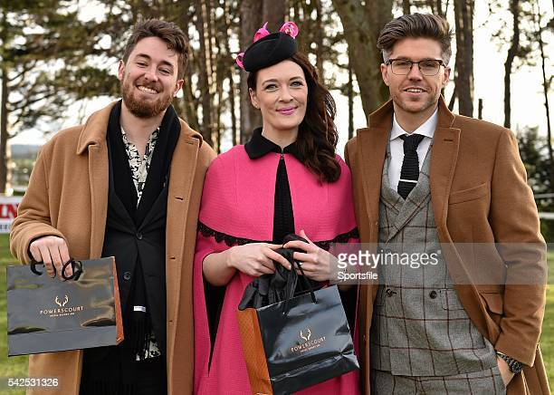6 February 2016 Pictured is TV Presenter Style Entrepreneur Darren Kennedy right with the winners of Powerscourt Hotel Style Awards Most Stylish Lady...