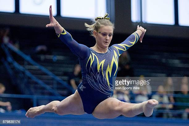 Rachel Stypinski competes on the Balance Beam during the meet between the George Washington Colonials Northern Illinois Huskies and Kent State Golden...